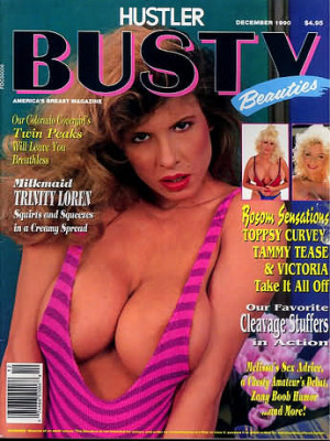 Hustler's Busty Beauties - December 1990